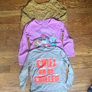 Lot of 3 - 5T long sleeve tops